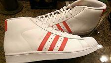 Men Adidas original pro model. Size 10 1/2 white/red $120 BNWT