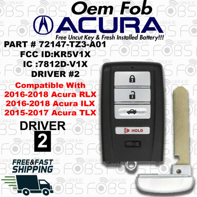 100% Oem Acura ILX 16-18 RLX 16-18 TLX 15-17 Fob KR5V1X