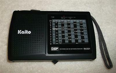 Kaito KA321 Pocket-size 10-Band AM//FM Shortwave Radio with DSP