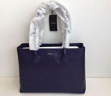 Furla Martha Notturno Purple Leather Medium Tote Hand Bag New with Tags