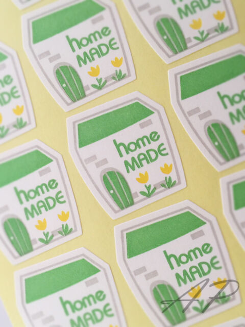 240pc Gift Packaging, Seal Wedding Birthday Handmade Homemade Sticker x10sheets