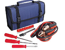 15pc Emergency Tool Set Car Truck Tool Kit Auto Mechanic Tool Set Jumper Cables