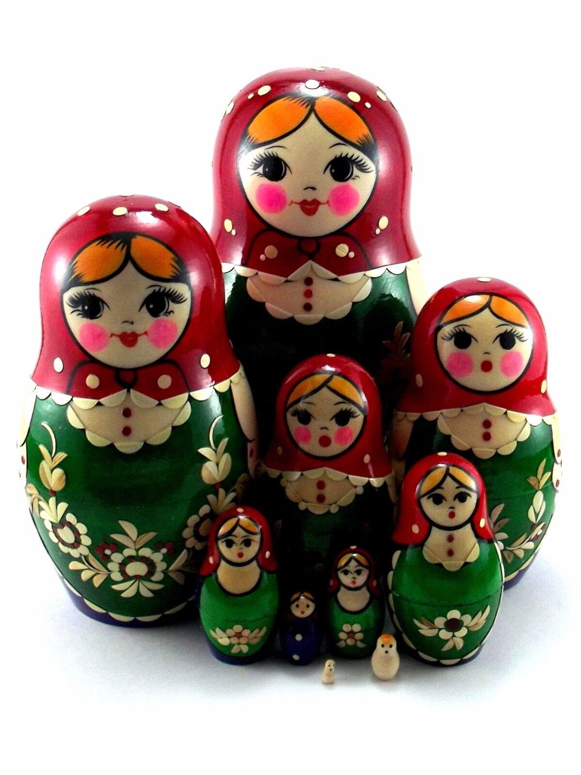 MATRIOSKA  BAMBOLA Baautobuschka cioé russa bambole in legno originale 10 pezzi 17cm  a buon mercato
