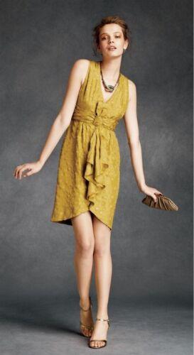 BHLDN Anthropologie Quillaree Silk Yellow Tethered Dots Dress NWOT Size 10 $300