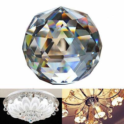 O7X5 40MM Feng Shui sfaccettato decorazione palla di cristallo pendente chiaro