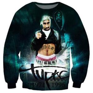 09301f86458 Details about Fashion Women Men 2Pac Tupac Hip Hop 3D Print Casual Sweatshirt  Hoodie Pullover