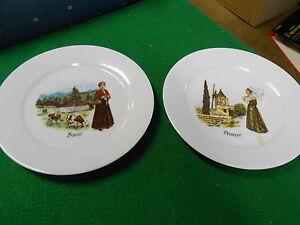 beautiful set of 2 french collector plates porcelaine de sologne de limoges ebay. Black Bedroom Furniture Sets. Home Design Ideas