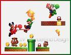 Super Mario Bro Toy Removable Nursery Wall Stickers Decal Kids Bedroom boy deco