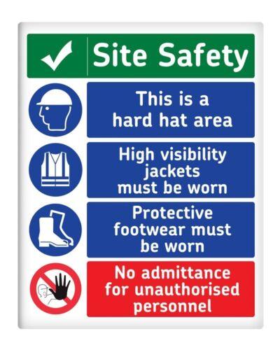 """Site de règles de sécurité 8x10/"""" Metal Signe construction locaux locaux professionnels #124"""