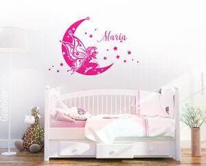 Wandtattoo Fee Mit Wunschname Kinderzimmer Babyzimmer Wandaufkleber Name Wk01 Ebay