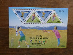NEW-ZEALAND-HEALTH-STAMPS-1995-CHILDRENS-SPORTS-4-STAMP-MINI-SHEET-MNH