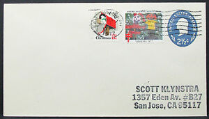 US-Stationery-Cover-American-Lung-Association-Christmas-Scott-GS-Letter-I-8616
