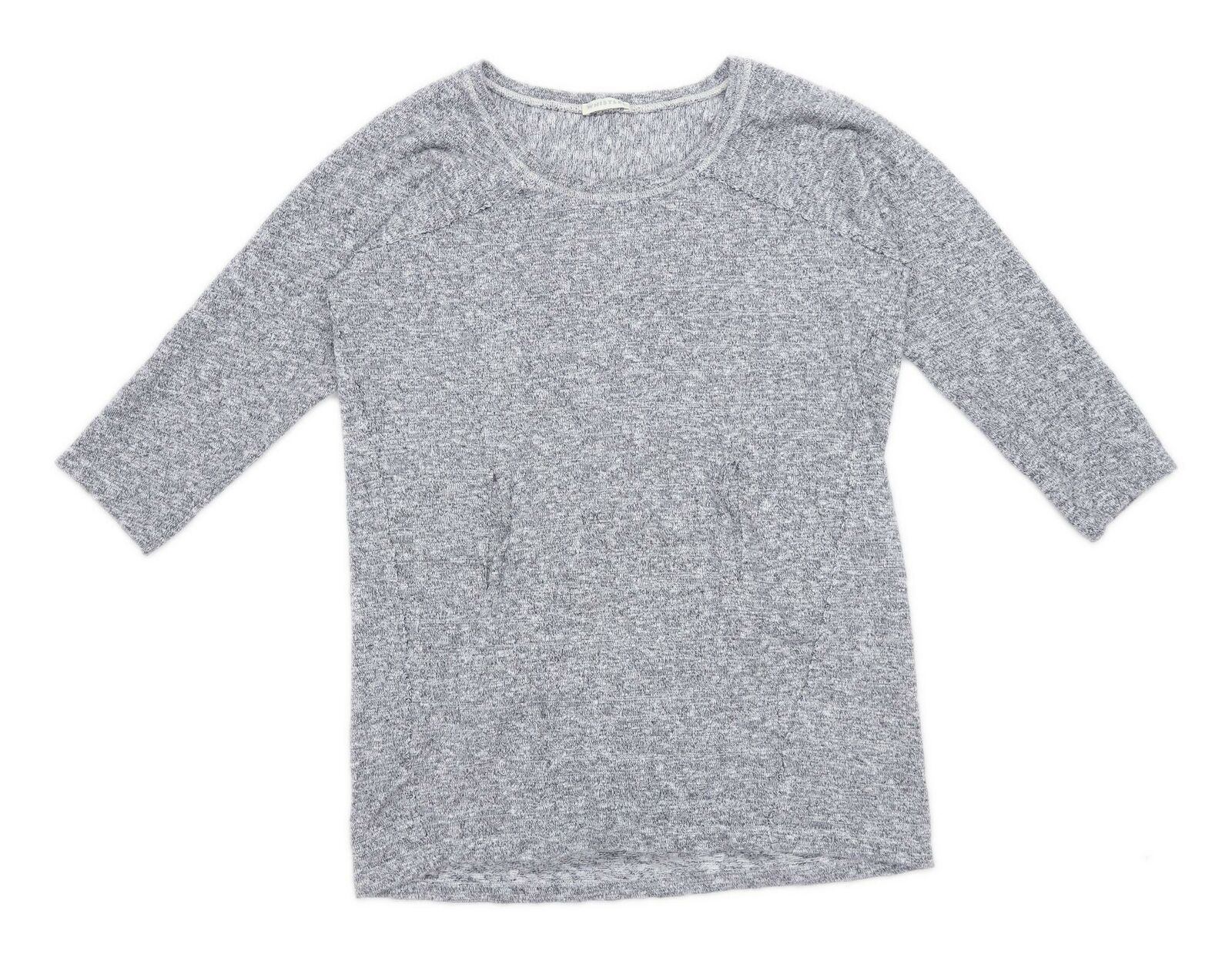 Whistles Womens Grey Jersey Pullover Sweatshirt Size 14