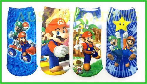 new Super Mario Socks foot Sox set 2 pairs boys girls kids game cartoon heroes