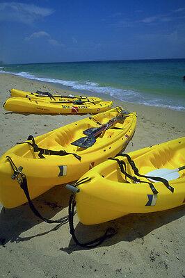 793015 Sea Dive Kayaks On Beach Fort Lauderdale Florida USA A4 Photo Print