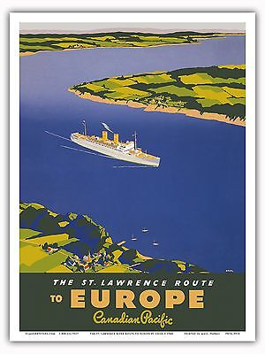 Booth Line 1930s Amazon River Vintage Style Cruise Line Travel Poster 20x30