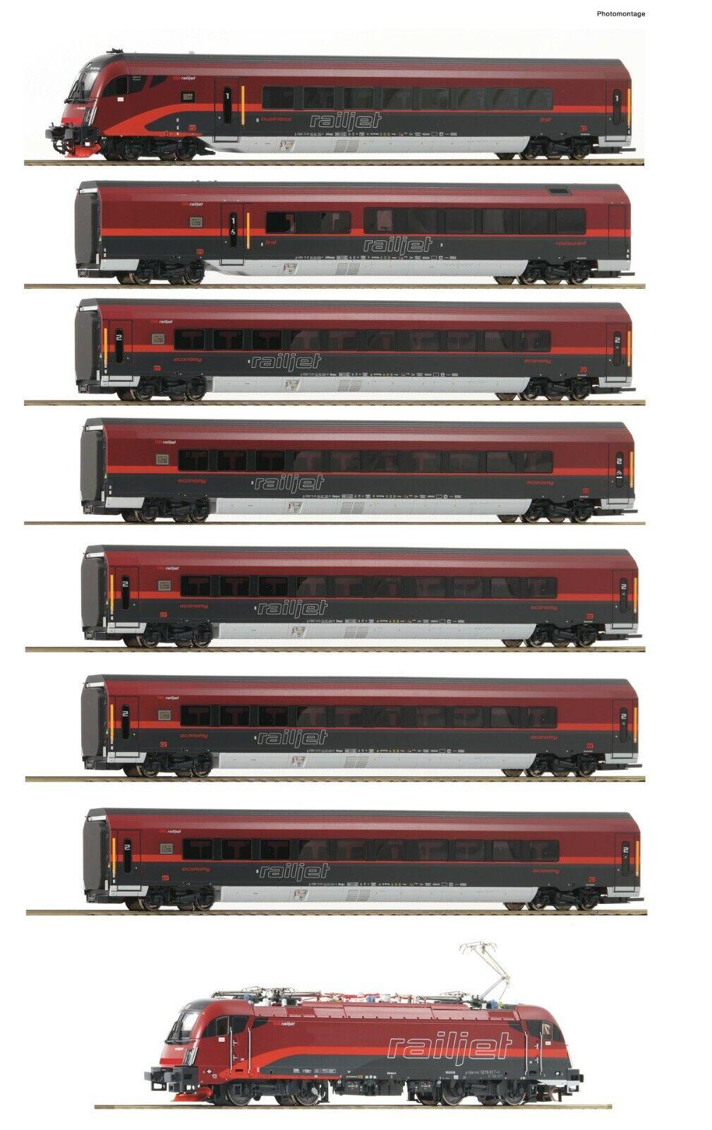 Nuova lista ROCO 74116 8 Piece Set     Railjet , ÖBB Digital Luce Suono Nuovo  vendita di fama mondiale online