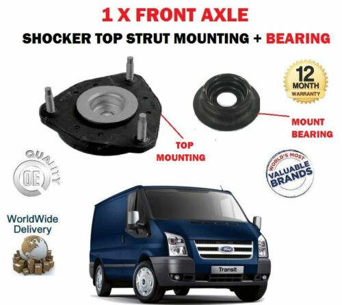 FOR FORD TRANSIT TDCI 2006> NEW 1 X FRONT AXLE SHOCKER TOP MOUNTING + BEARING