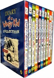 Diary-of-a-Wimpy-Kid-10-Books-Boxed-Set-Collection-Blue-Hard-Luck-Third-Wheel