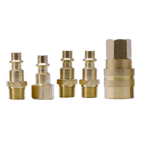 5pc brass air quick release coupler set fittings air line end connector
