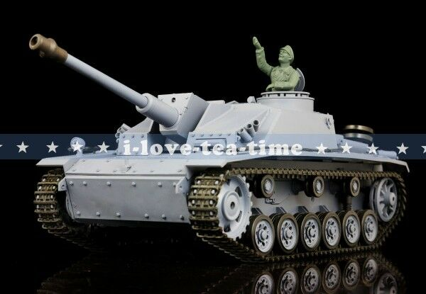 HengLong 1/16 German Stug RTR RC Tanque Plástico ver III BB Disparo Smog 3868-1