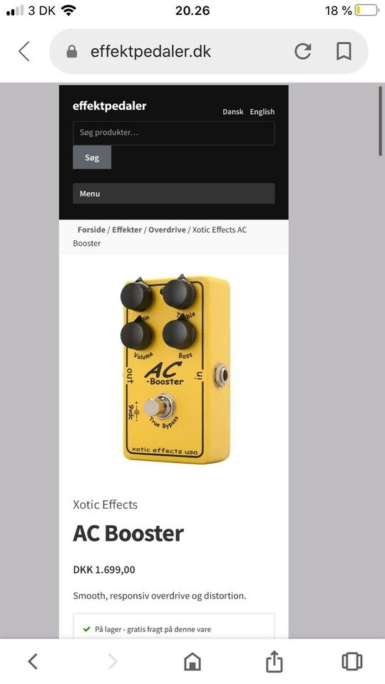 Overdrive/ Distortion , Xotic Effects AC booster