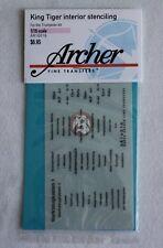 Archer 1/16 King Tiger (Tiger II) Tank Interior Stencils (for Trumpeter) AR16016