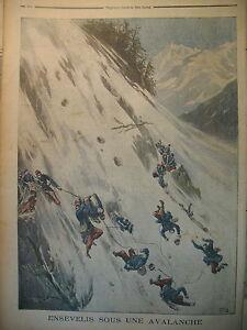 AVALANCHE-ALPES-BRIANCON-INFANTERIE-EXELMANS-ROCQUENCOURT-LE-PETIT-JOURNAL-1897