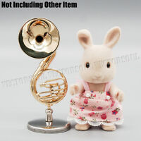Sousaphone With Stand Case 1:12 Dollhouse Music Musical Instrument Miniature Top