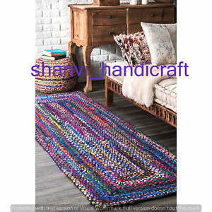 Indian-Braided-Floor-Rug-Handmade-Home-Decor-Floor-Pure-Cotton-Area-Rug-Runner
