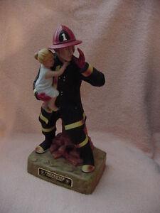 Original Model of 1980's  FireFighter Porcelain Series # 1  Federal Distillers