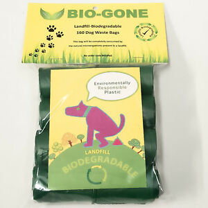 Biodegradable-Dog-Waste-Bag-Pet-Puppy-Poop-Clean-Up-Refill-Rolls-160-Poo-Bags