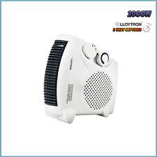 Ventilateur 2000W chauffage avec 2 réglages de chaleur & cool coup thermostat électrique plat