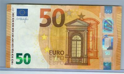 Mario Draghi 50 euro banknote 2017 UNC Prefix-P Netherlands sign