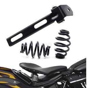 3-034-Noir-Moto-solo-selle-siege-support-ressorts-Pour-Harley-Chopper-Bobber-Honda