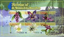St Vincent & Grenadines 2010 MNH Flowers St Vincent 6v M/S Purslane Stamps