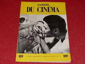 REVUE-LES-CAHIERS-DU-CINEMA-N-109-JUILL-1960-JEAN-COCTEAU-EO-1rst-Printing