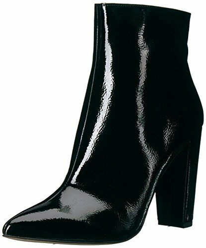 JESSICA SIMPSON 8 8 8 M Black Crinkle Patent Faux Leather TEDDI Party BOOTS Booties 57d14f