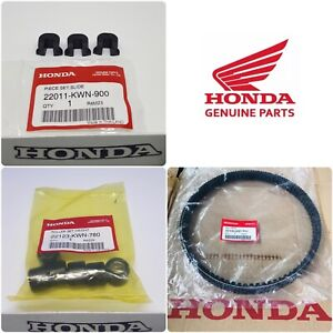Honda GENUINE PCX 125 Drive Belt + Roller Weights + Sliders 2018 2019 2020 WW125