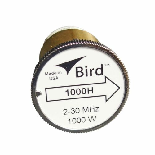 Bird 1000H Thruline WattMeter Element 1000W 2-30 MHz GENUINE BIRD