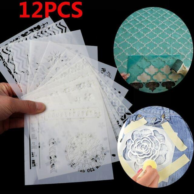 12Pcs/set Walls Painting Scrapbooking Layering Stencils Embossing Template HOT
