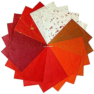 Nava Chiangmai Thin Standard Color Of Mulberry Paper Sheets Paper Decorative Diy