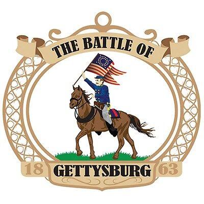 CHRISTMAS ORNAMENT CIVIL WAR GETTYSBURG PA. BRASS SIZE 2.5 ...