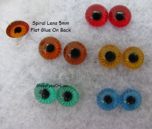 12 PAIR 5mm Plastic EYES with Starburst IRIS for Troll SPL-1 Doll Fish Lure