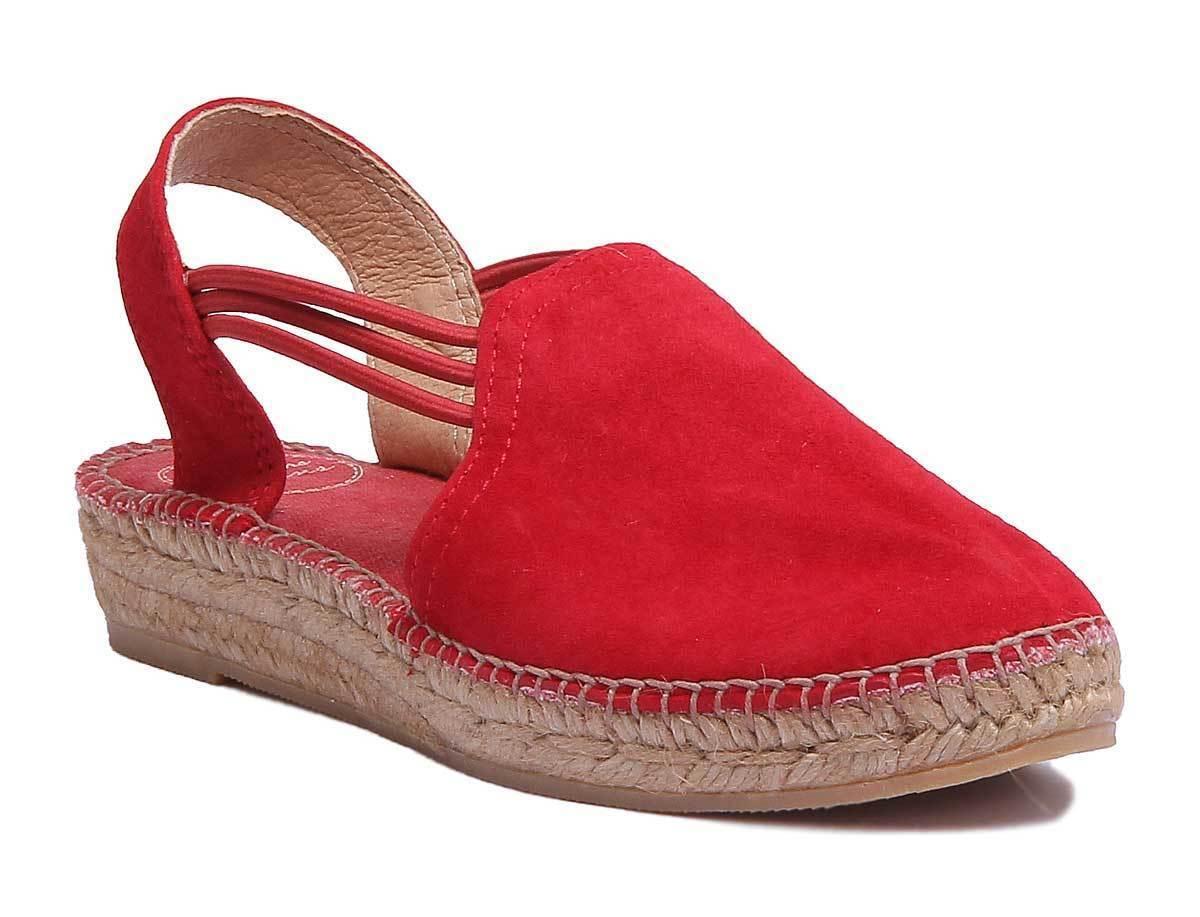 Tony Pons Nuria kvinnor röd mocka läder Esfarrilles Storlek UK 3 - 8