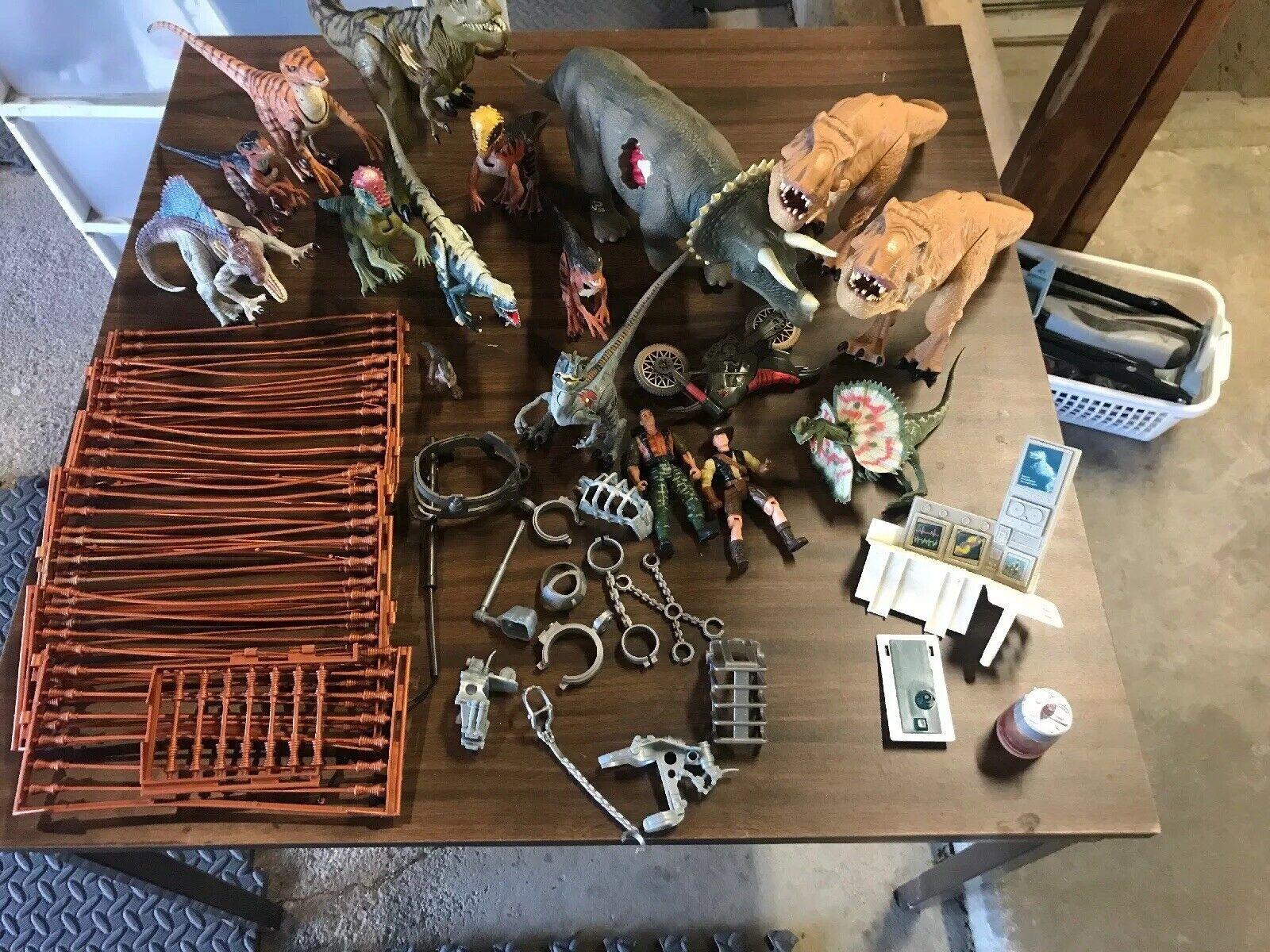 Jurassic Park Lote captura Gear dinosaurios y piezas adicionales