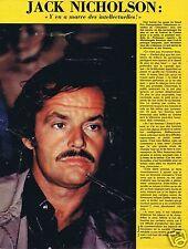Coupure de presse Clipping 1975 Jack Nicholson  (1 page)