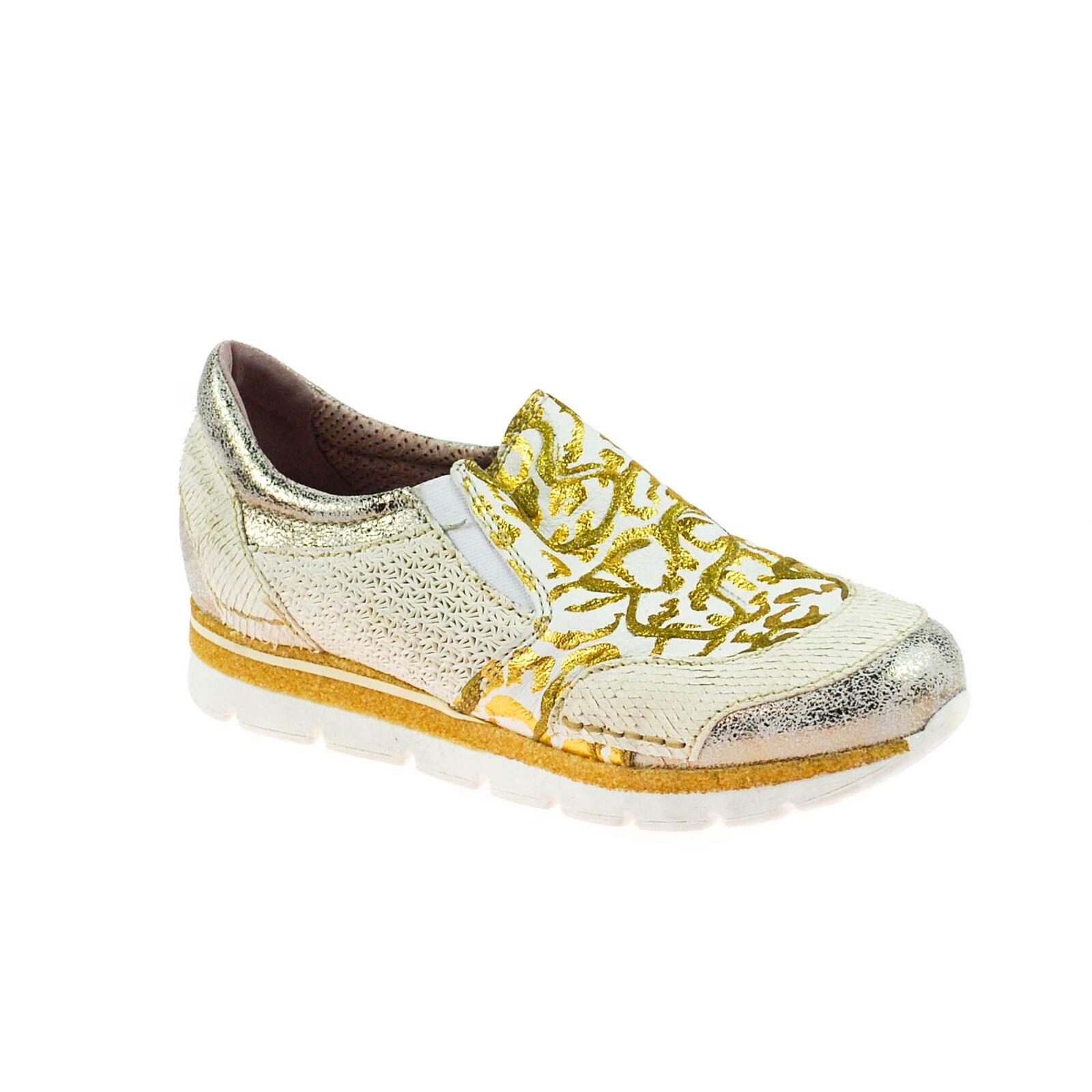 l'ultimo Fascino Fascino Fascino DONNA mezza Scarpa scarpe da ginnastica Pelle Bianco argentoo oro Grigio Multicolore  vendita online