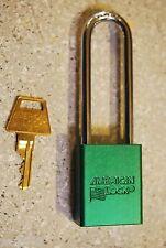 American Lock A1107nrgrn Series Padlock Solid Alum Body 14 Hardened Shackle