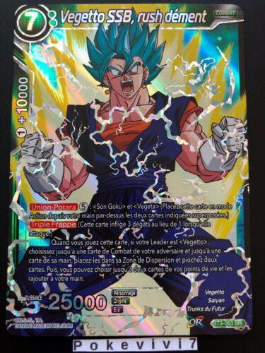 RUSH DEMENT BT3-063 SR DBZ FR NEUF Carte Dragon Ball Super VEGETTO SSB